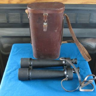 Vintage Carl Zeiss Jena Delfort 18 X 50 Binoculars With Leather Case
