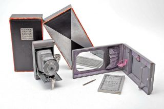 Vanity Kodak Ensemble - Purple - Grey Camera,  Mirror/wallet Case,  Book,  Box,  Rare Set