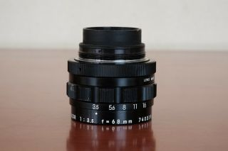 Ultra Rare Enlarging Lens El Nikkor 68mm 3.  5