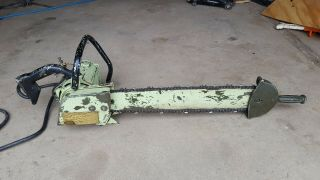 Rare Vintage Strunk 2 Man Electric Chainsaw Runs And Cuts Great 24in Bar 1960