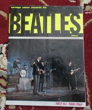 Beatles Ultra Rare Vintage 1964 Zealand Concert Program
