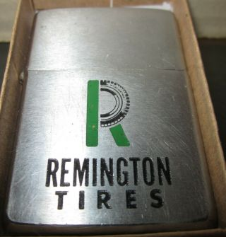 Vintage Very Rare 1966 Remington Tires Zippo Lighter