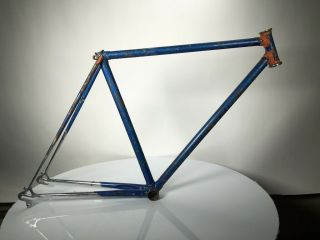 Vintage Raleigh Road Bike Frame With Campagnolo Dropouts Touring Style Chrome