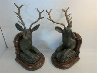 "Vintage 20 "" Maitland Smith Deer Buck Stag Bookends"