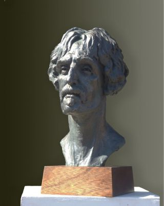 Bronze Resin Bust Of Frank Zappa.  Edition Of Only 75.  Over 1/2 Life Size.  Rare.
