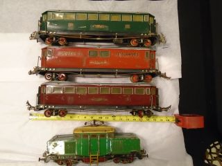 Edobaud French Prewar Huge O Gauge Set.  Very Rare And Unusual -