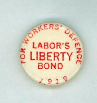 Vtg 1919 President Eugene Debs Socialist Party Campaign Pinback Button Liberty