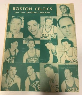Very Rare 1954 - 55 Basketball Brochure Boston Celtics 1st Ever Yearbook