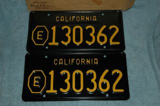 1963 - 1968 Vintage California Local Municipality (e) Plates