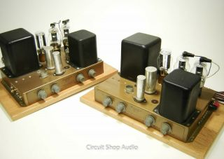 Pair Vintage Heathkit A - 9c Modified To Monoblock Tube Amplifiers / 6bg6 - Kt2