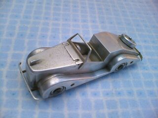 Lovely Old Scratch Built Solid Alluminium Vintage Car Table Petrol Lighter