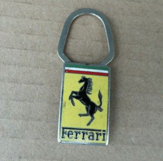 Vintage Ferrari Key Ring By A.  E.  Lorioli Milano,  Collectible Ferrari Accessories