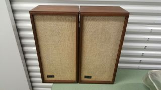 "Klh Model Seventeen "" 17 "" Vintage Acoustic Suspension Speaker System"