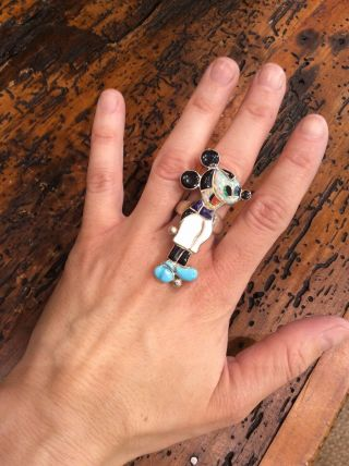 Vintage Mickey Mouse Zuni Nlay Ring