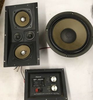 Vintage Sansui Sp 1200 Speakers And Crossover