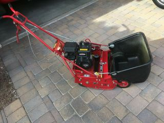 "Mclane 17 "" Reel Mower With Rare Self Propelled Drive - Very"