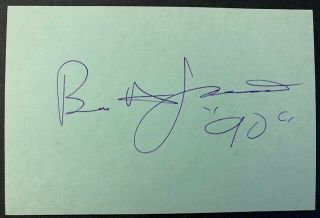 Rare - Brion James Vintage Autograph - Blade Runner - Harrison Ford