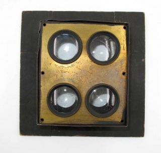 Rare Early Multi Lens Set For Large Format Wet Plate Or Tintypes.  No Res.