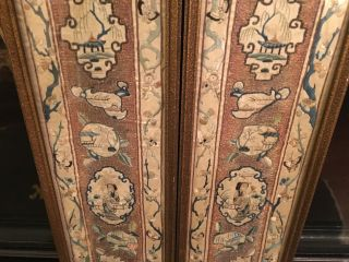 A Pair Chinese Qing Dynasty Textile Panels,  Framed 2.