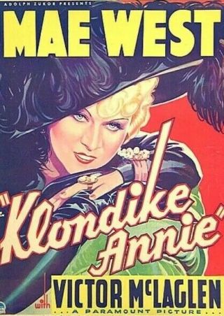 Vintage Movie 16mm Klondike Annie Feature 1936 Film Drama Adventure