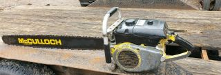 """Mcculloch 795 Chainsaw Big Muscle Saw 36 """" Bar Chain Wow Look Collector Vintage"""