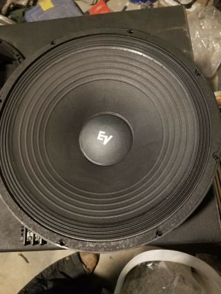 "Ev / Evm 15l Electro Voice 15 "" Speaker 8 Ohm Old School Vintage "" Reconed """