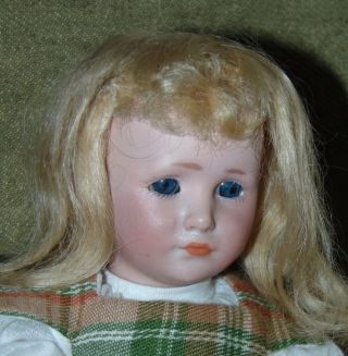 """Extremely Rare 7 3/4 """" Bisque Character Doll Simon & Halbig 1478"""