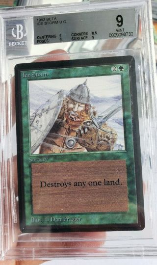 Vintage Magic | Mtg Bgs 9 Beta Ice Storm,
