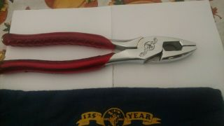Vintage Rare Klein Tools 125th Year Anniversary Pliers Collectors Ed
