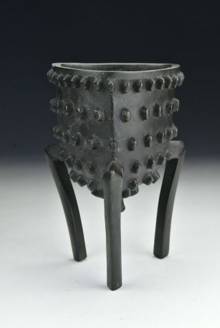 18th / 19th Century Chinese Bronze Studded Tripod Censer
