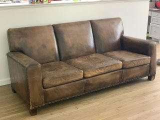 Vintage Ralph Lauren Leather Sofa