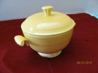 Rare Vintage Fiesta Yellow Covered Onion Soup Bowl Lid Fiesta Ware