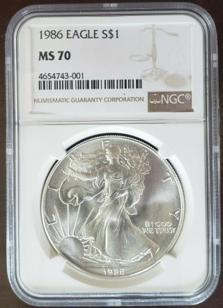 1986 Ase Ngc Ms70 Graded Perfect Very Rare Only A Few Hundred Books 1500 Bucks