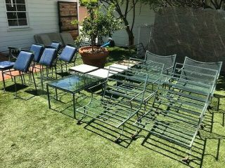 Giant Set - Vintage Mid Century Wrought Iron Outdoor Patio Furniture