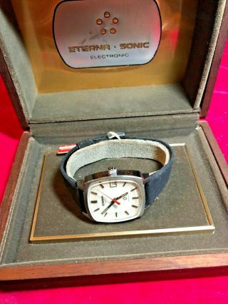 Nos,  Vintage,  Eterna Sonic Electronic Watch With Tags