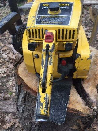 Vintage Collectible Mcculloch Pro Mac 850 Chainsaw -
