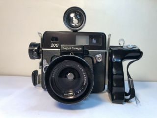 Rapid Omega 200 Camera Kit With Rare Wide Omegon Lens 1:5.  6 58mm