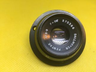 "Vintage Camera Lens Dallmeyer Pentac 1.  5 "" F/2.  9 Old Stock"