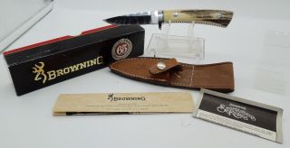 Vintage Rare 1989 Browning Model 65 Limited Edition Sambar Stag Hunter Knife
