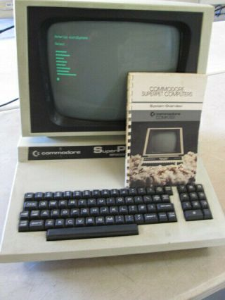 Vintage Commodore Superpet Cbm Sp9000 Computer Boots Early Low Serial No.  2118