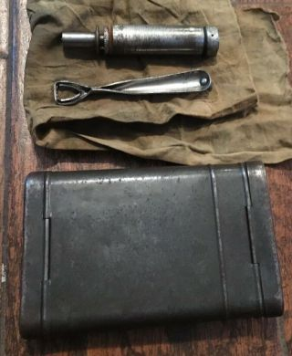 Ww2 Wwii German Military Army Mauser K98 7.  92mm Rifle Gun Cleaning Kit
