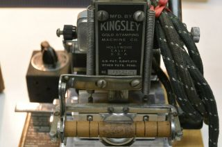 Vintage Kingsley Gold Stamping Machine Hot Foil Made in Hollywood California USA 10