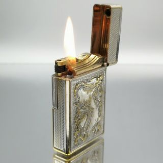 Great Very Rare St Dupont Drago Petrol Lighter Feuerzeug Accendino