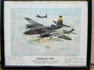 """386th Bomb Group D - Day 1944 B - 26 Marauder """" Heading For Home """" Signed Poster"""
