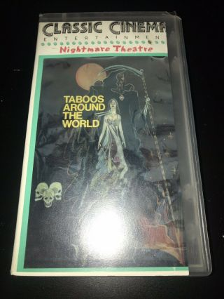 Rare Vintage Vhs Nightmare Theatre Taboos Shockumentary Gore Rituals Mutation