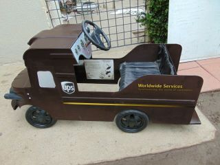 Ups Advertising Pedal Car Riding Toy Truck Rare
