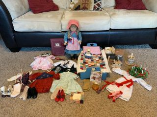 1990 Vintage Kirstin Amercan Girl Doll.  All Clothing And Furniture.