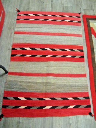 Vintage Hand Woven Mexican Latin American Weaving Wool Rug Wall Hanging Rug