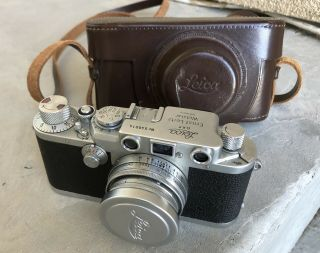Vintage Leica Drp Ernst Leitz Wetzlar No.  540014 Camera And Case