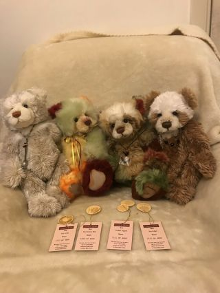 Charlie Bears 4 Seasons Complete Set Rare